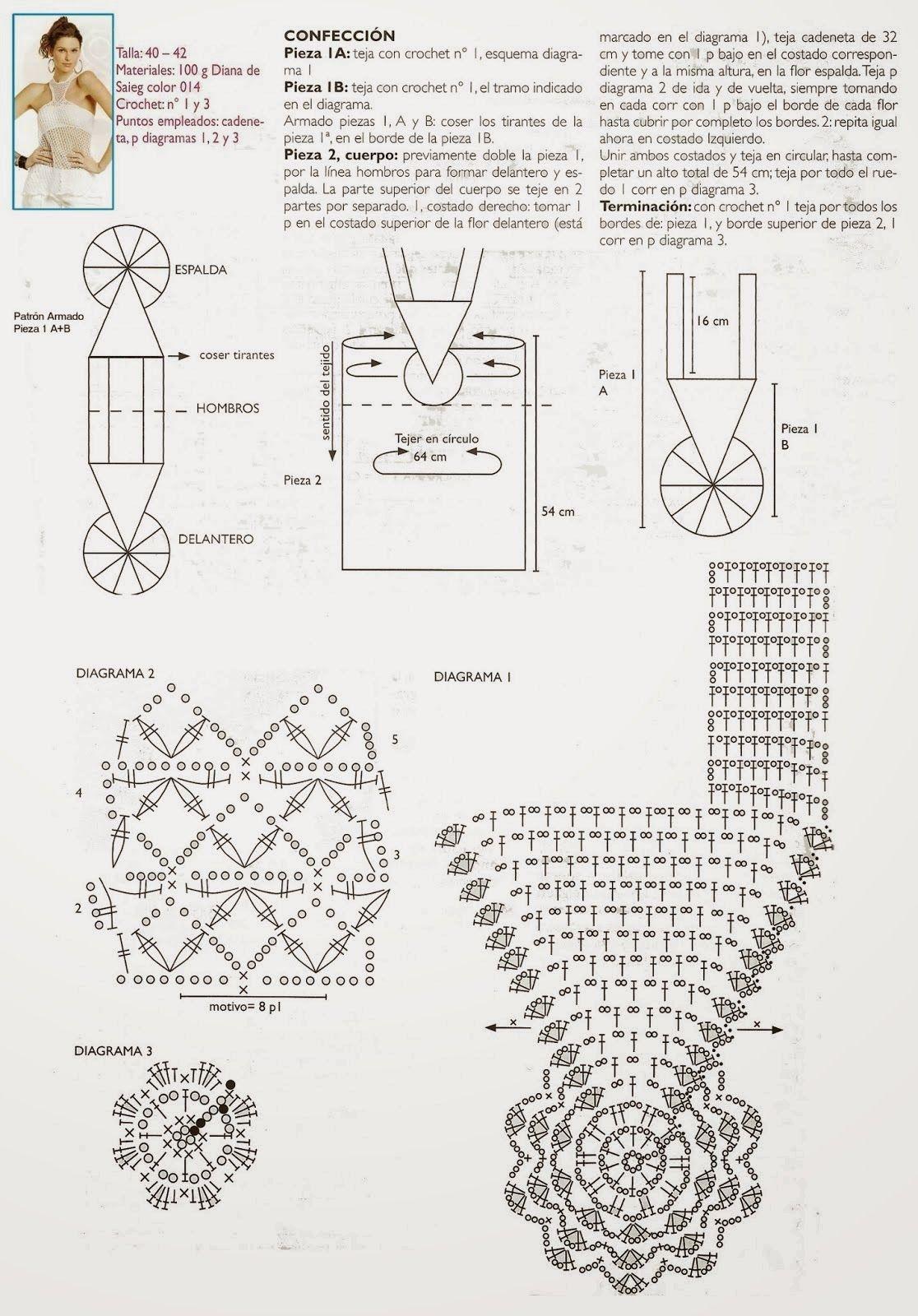 Top Cruz Cruzado Patron Crochet - Patrones Crochet | vestiti ...