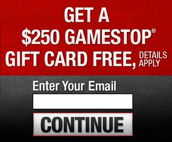 Free $250 GameStop Gift Card | Free Gift Cards | Pinterest | Free ...