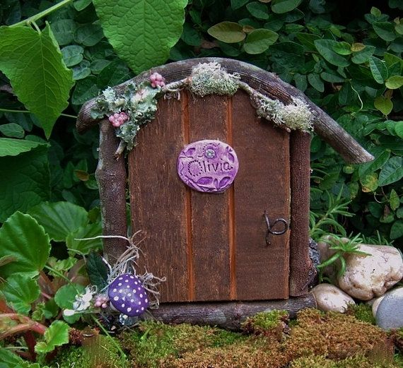 Fairy Door, Handmade Wooden Fairy Door, Gnome, Elf, Fairy Garden, Fairy Door, Gnome Door, Wood