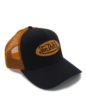 6d0c879687bcd2 Von Dutch Logo trucker cap - black orange | Von Dutch | Von dutch ...
