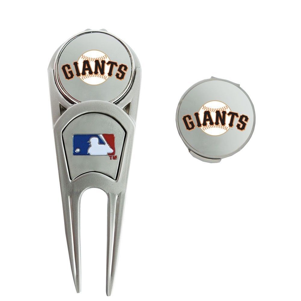 Mlb San Francisco Giants Golf Ball Mark Repair Tool And Hat Clip Mlb Ball Markers Hat Clips Wincraft