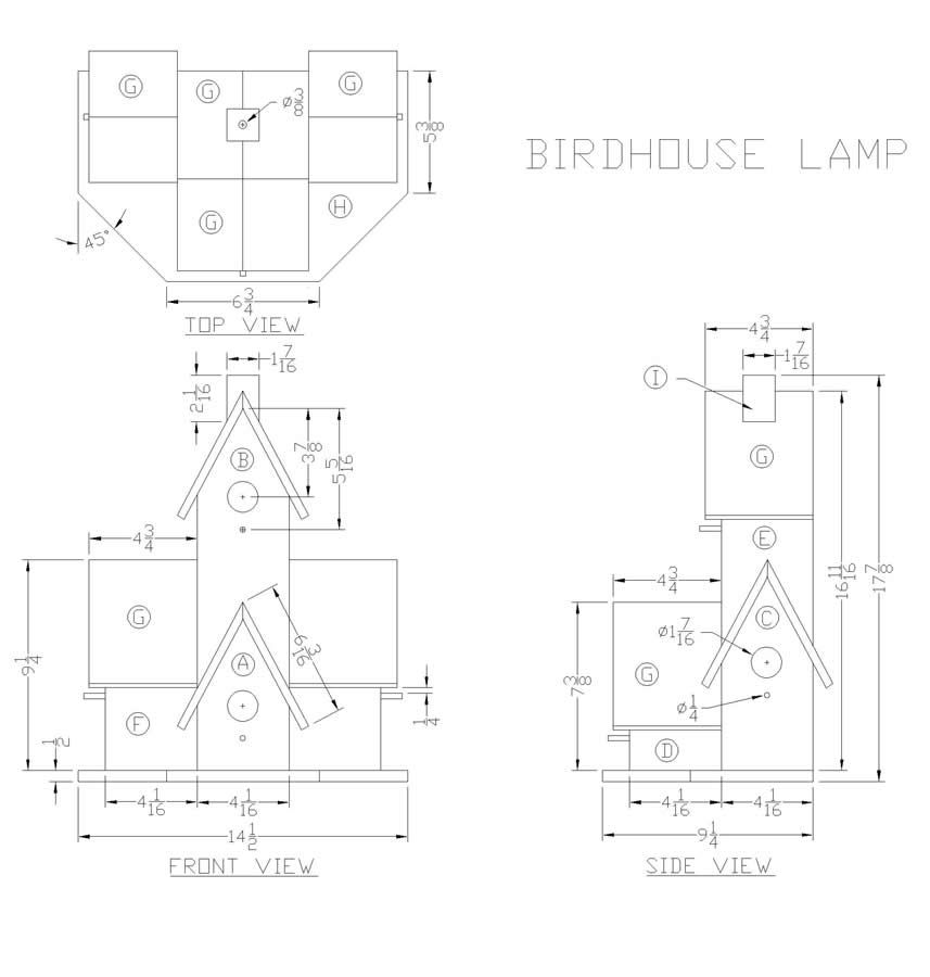 DIY pattern Wooden Birdhouse Lamp | Birdhouse Stuff | Pinterest ...