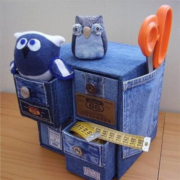 Recycling old jeans for kids toys and decorative for Denim craft ideas