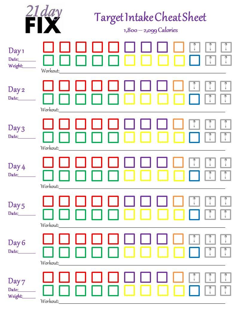 day fix cheat sheet chart meal plan get also portion control to calories google rh pinterest