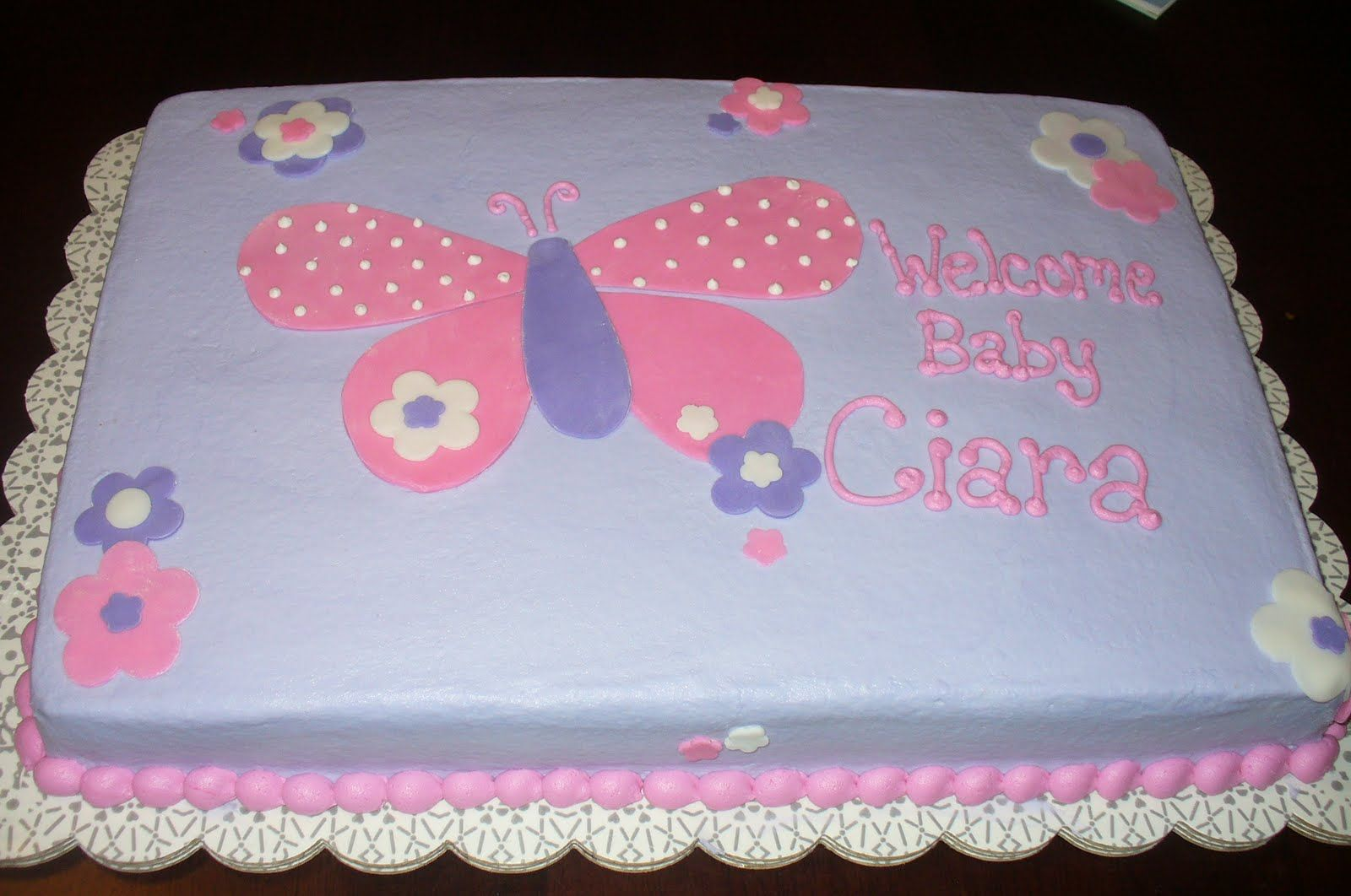 Maya S Masterpiece With Images Butterfly Baby Shower Cake