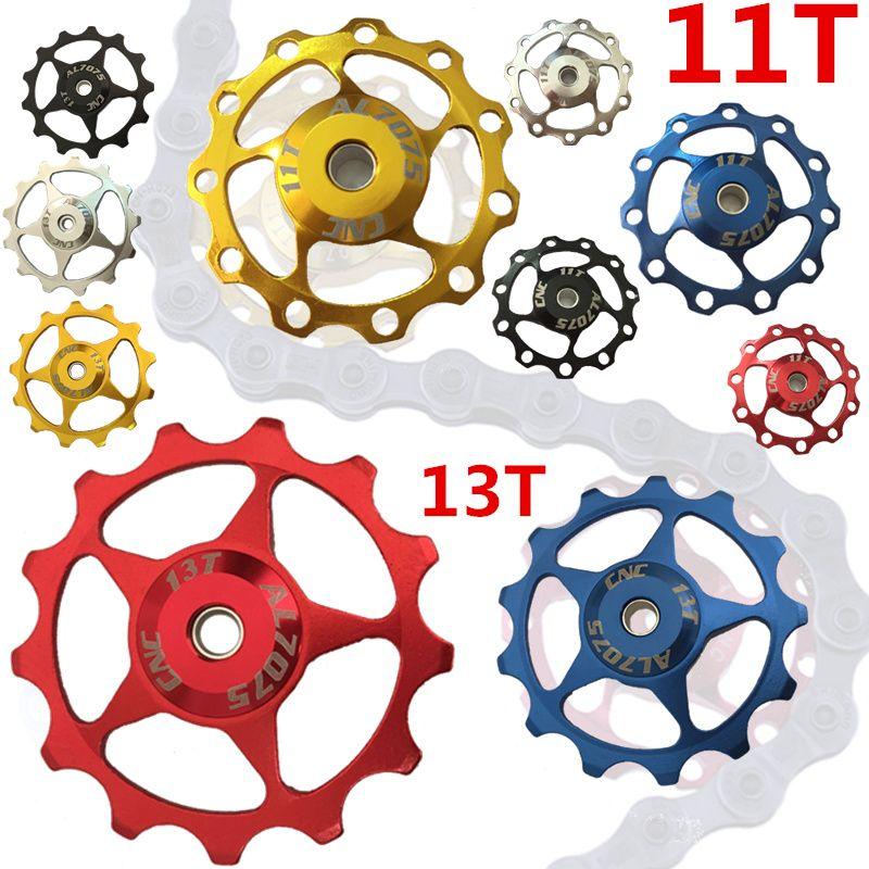 1pcs 11T Bike Aluminum MTB Alloy Bearing Jockey Wheel Rear Derailleur Pulleys