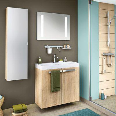 Idéale pour les petites salles de bains, ce meuble donnera du style
