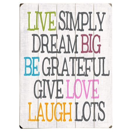 Live Simply Wall Decor   Quotes to live by   Pinterest   Wall decor ...