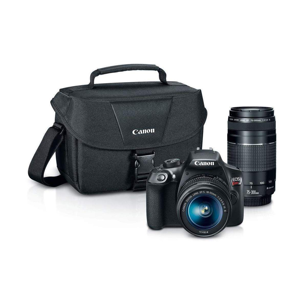 Canon T6 DSLR Camera 18-55mm Lens  75-300MM Lens  pro-100 Printer $349  free shipping (after $300mir)