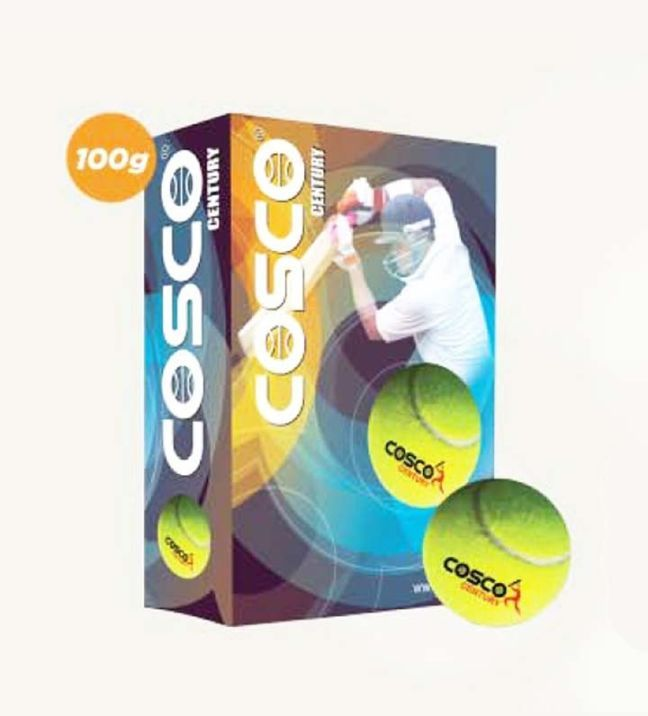 Cosco Cricket Tennis Ball Century 12010 6 Pcs Box Tennis Ball Tennis Balls Cricket Balls