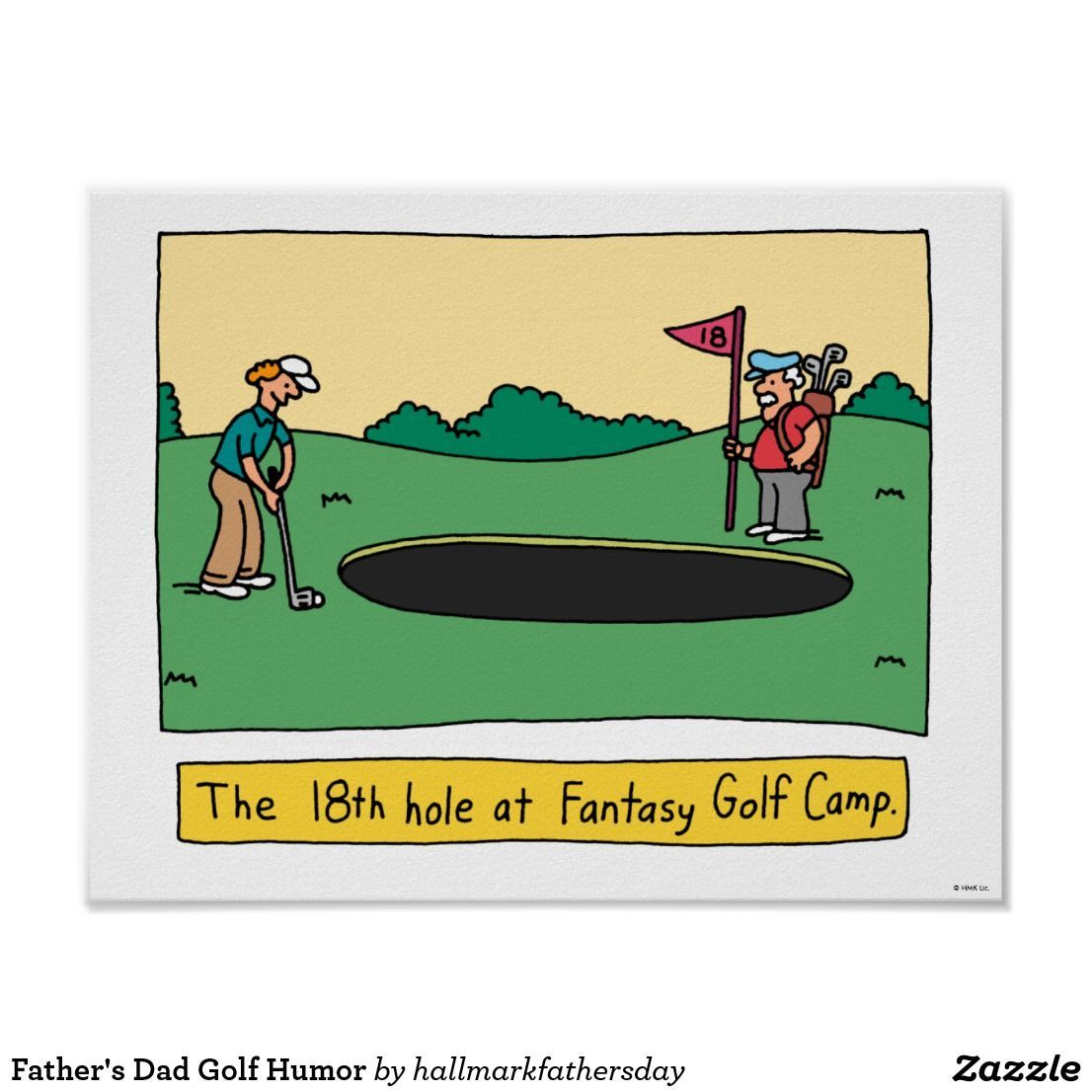 Father's Dad Golf Humor Poster | Zazzle.com #golfhumor Father's Dad Golf Humor Poster #golfhumor