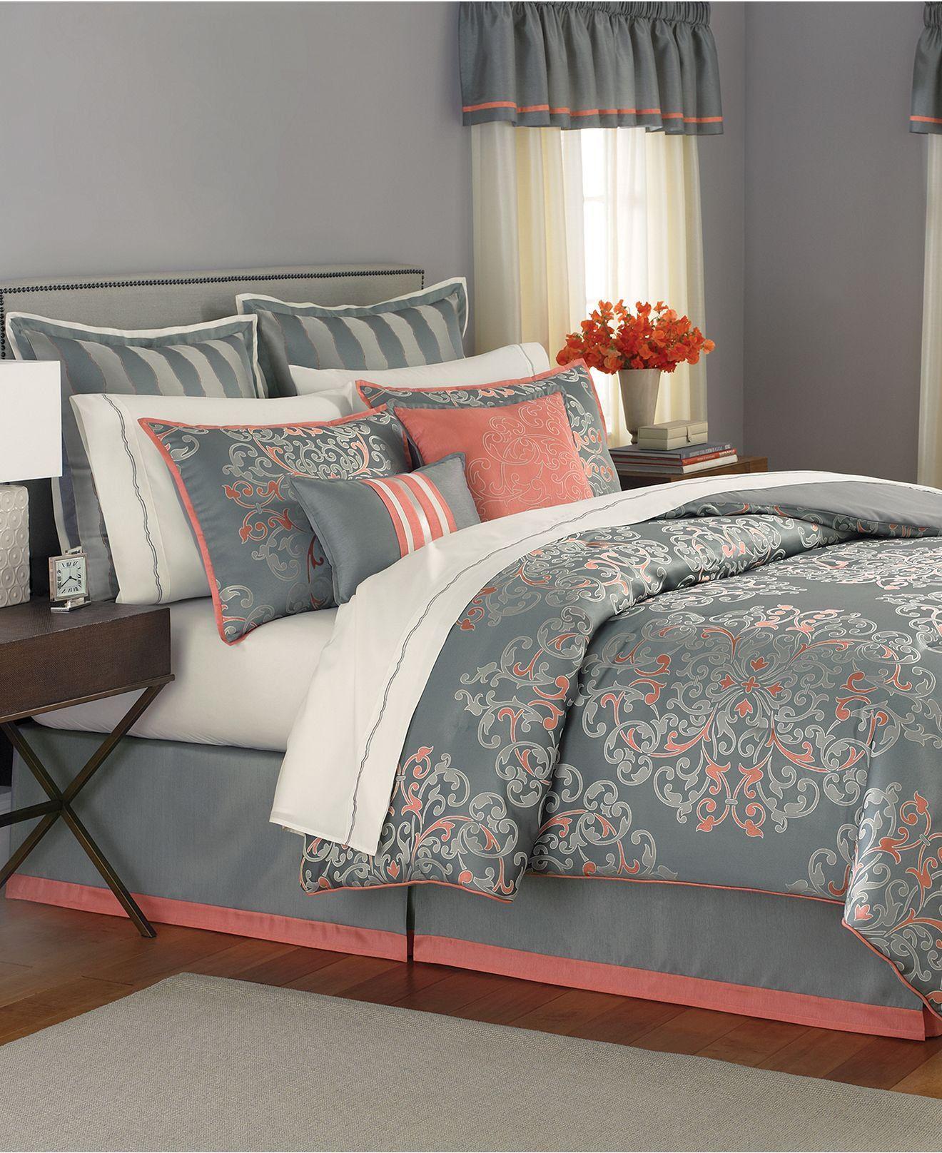 martha stewart collection bedding, grand damask 24 piece queen