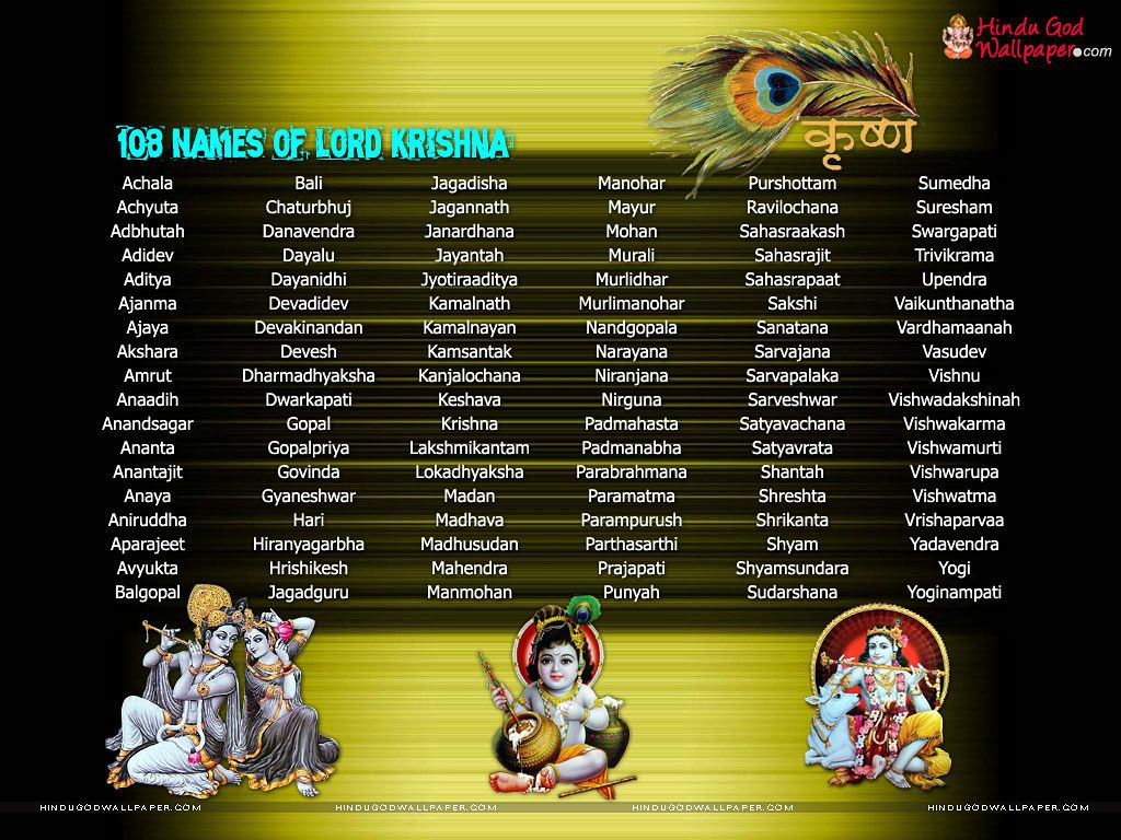 lord krishna names wallpapers download | lord krishna wallpapers