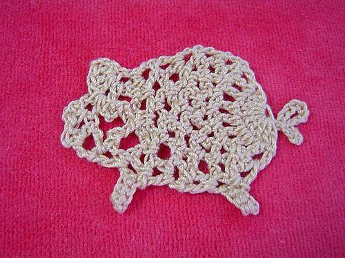 Crochet: Pig Motif Pattern. ravelry.com | cerditos a crochet ...