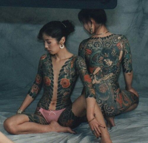 Japan women tattoo nude