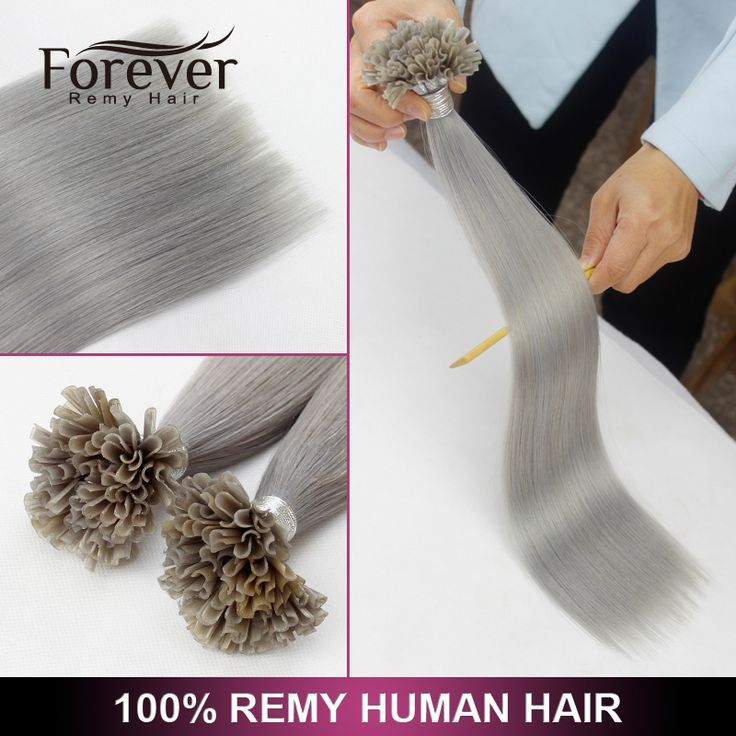 Forever Keratin 100 Cheap Straight Remy Silver U Tip Fusion Hair