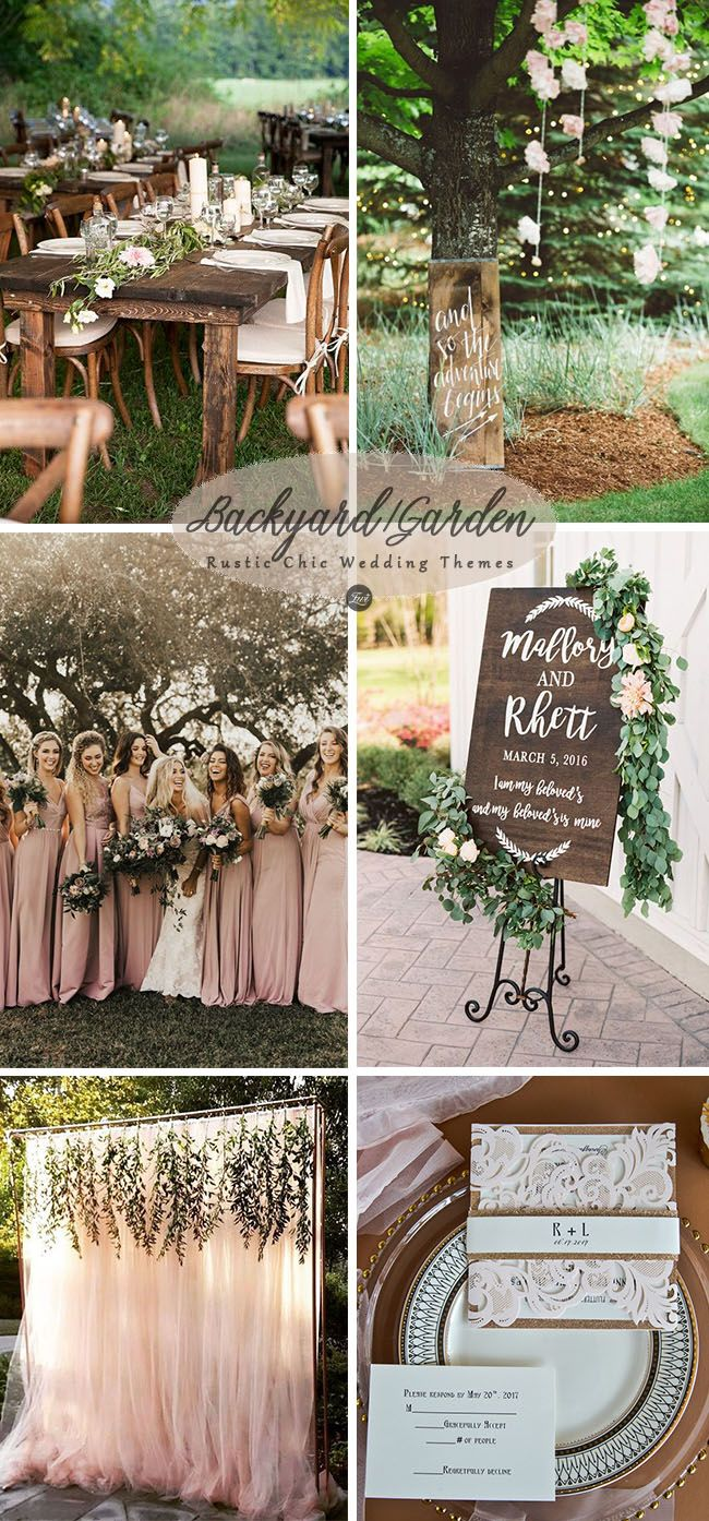 6 Inspiring Trending Modernized Rustic Chic Wedding Theme Ideas Elegantweddinginvites Com Blog Wedding Themes Rustic Rustic Garden Wedding Wedding Themes