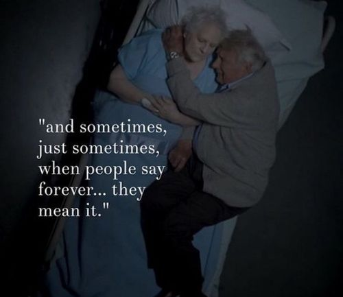 Cute And Sad Love Quotes: Awesome, Couple, Cute, Forever, Love, Old Couple, Quote