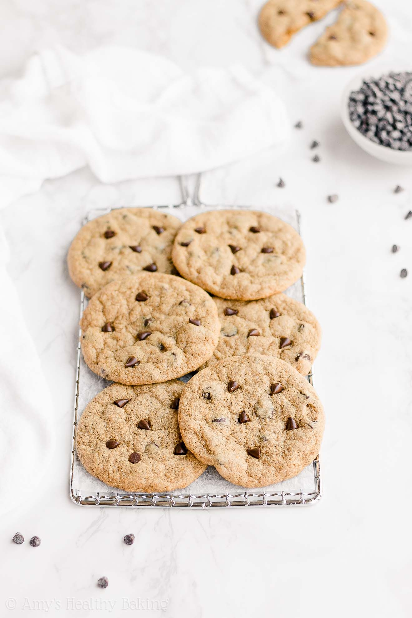 Healthy Low Calorie Vegan Chewy One Bowl Chocolate Chip