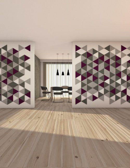 felty Filz Fliese zur Wandgestaltung Wohnraum Modell Karen Größe M