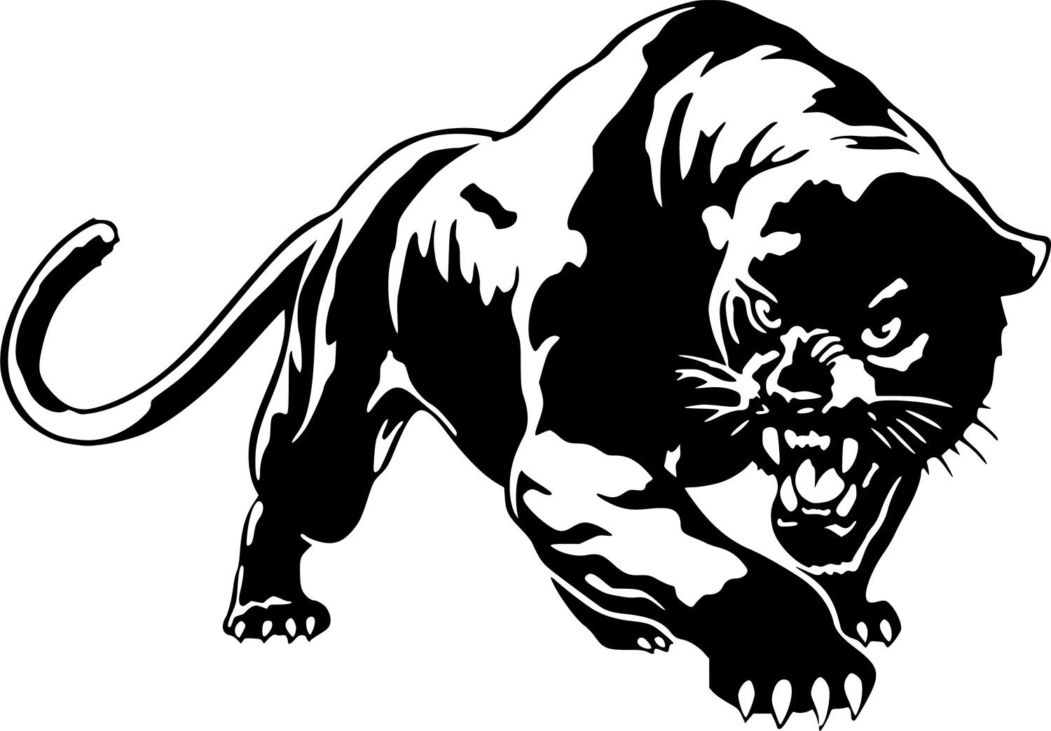 Black Panthers Sticker