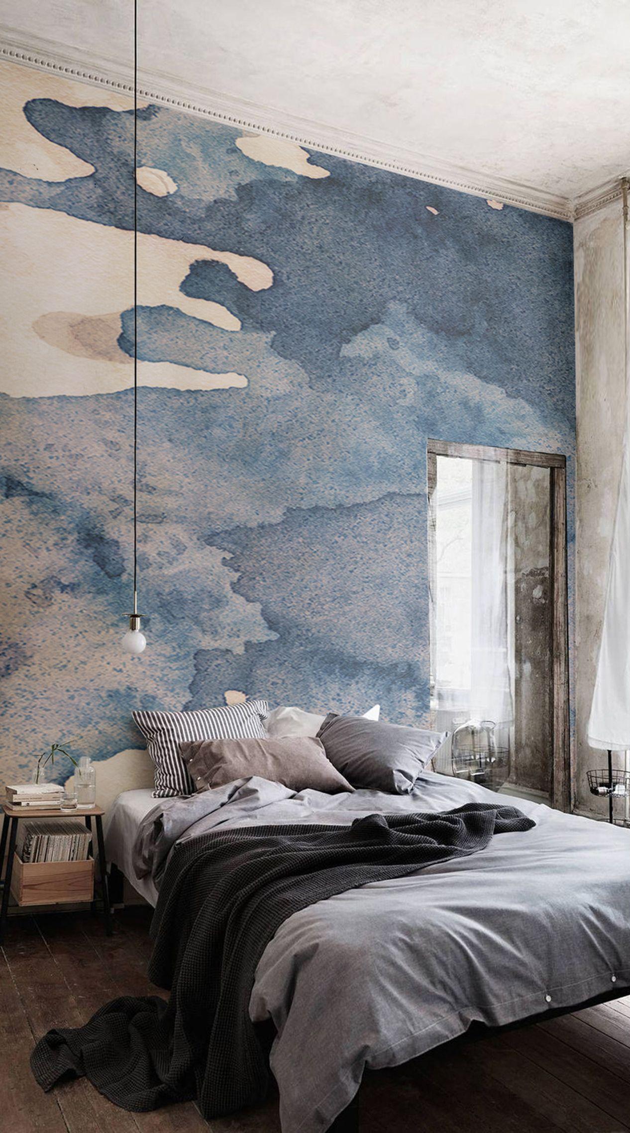 Ink Blot Watercolour Paint Wallpaper Mural Decora O De Parede  ~ Quarto Grande De Luxo Com Pintar Parede Do Quarto