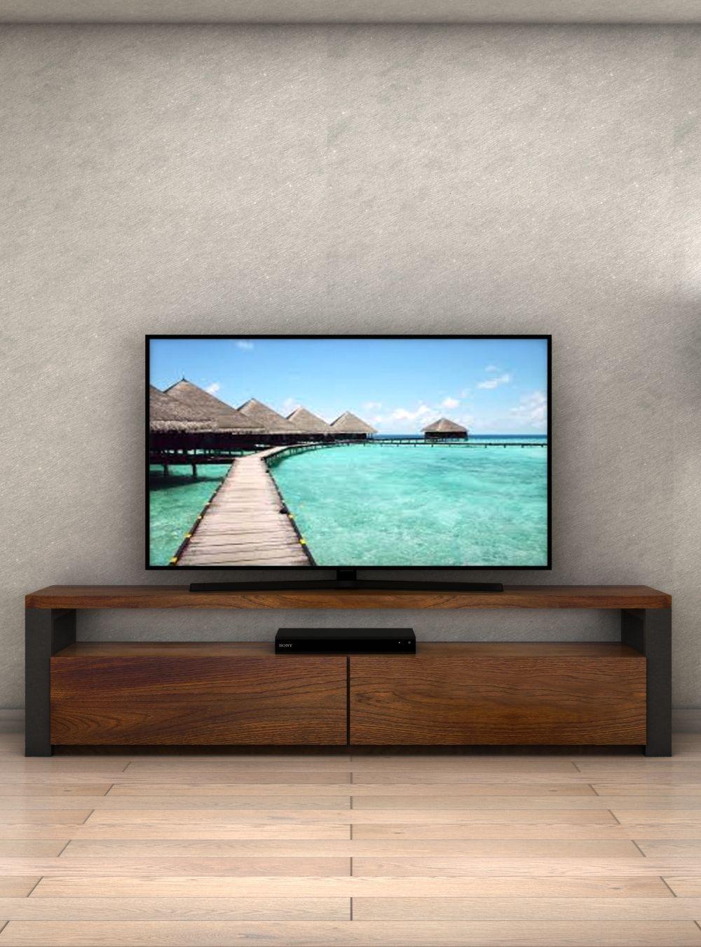 Mobili Porta Tv Stile Industriale.Porta Tv In Legno Di Noce E Ferro Stile Industriale Mobiletv