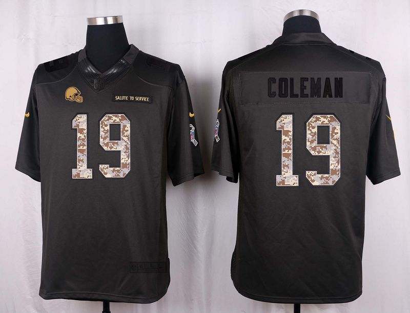 Cleveland browns 19 coleman 2016 nike anthracite salute to