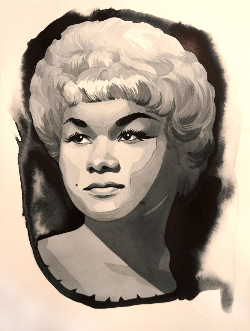 Etta James - 2015 - ink on paper