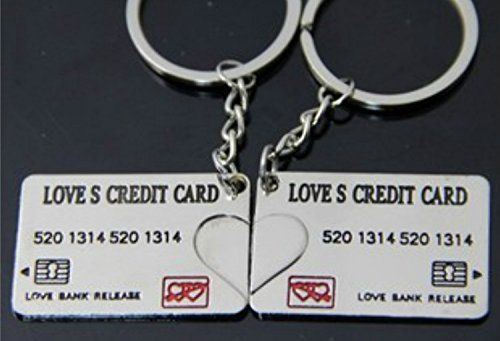 "Liroyal Couple Keychain Keyring --- ""I Love You"" Heart + Key --- Lover…"
