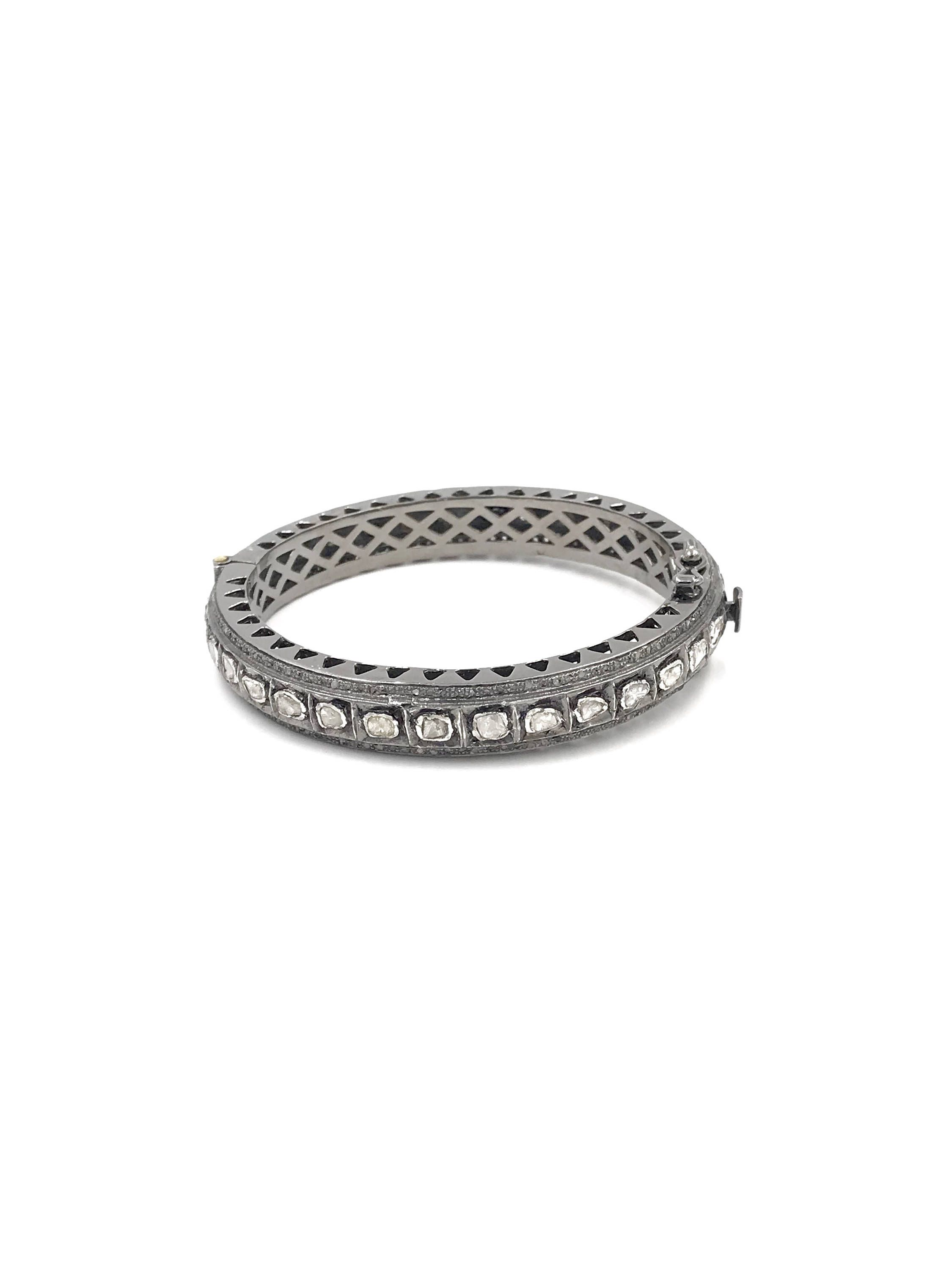 gold bangle silver white sterling bangles ethos product stackable pave pav diamond canada