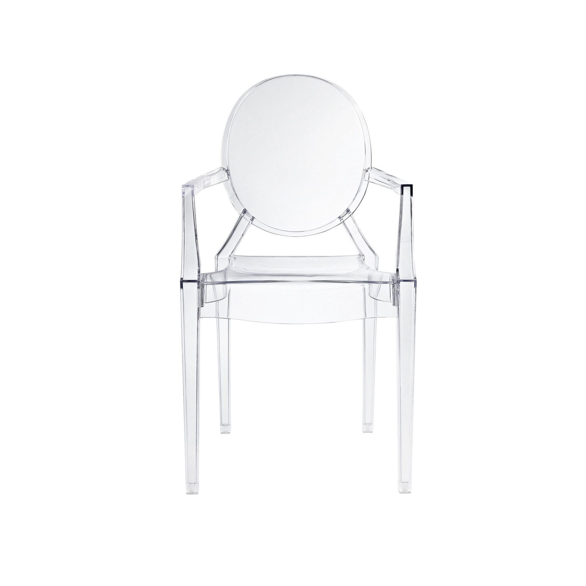 Polycarbonate Crystal Clear Ghost Dining Chair Minimum