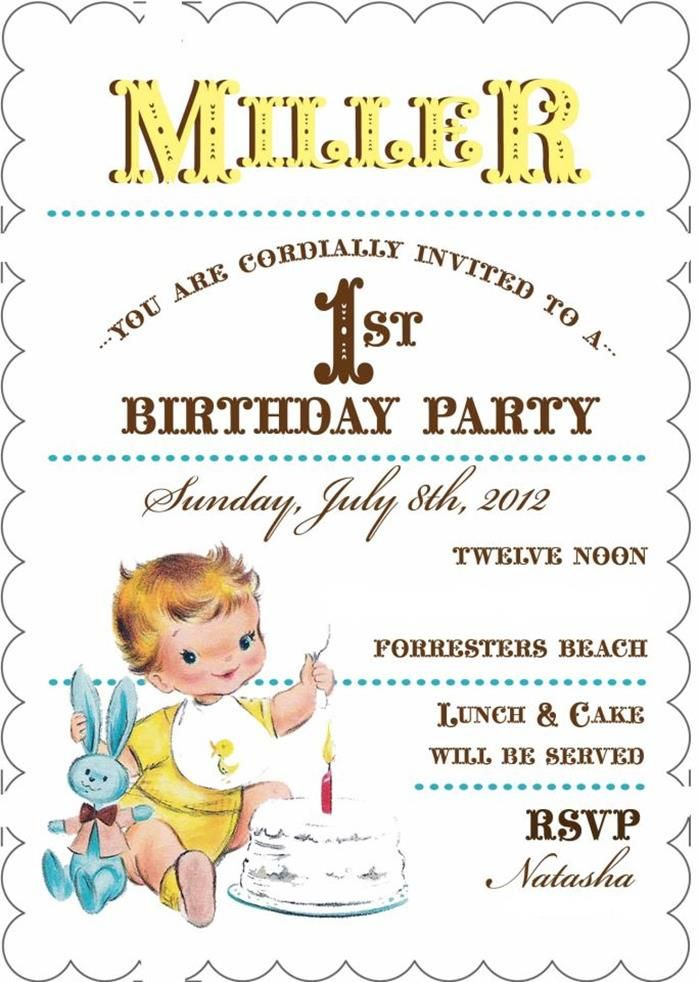 Vintage Yellow and Blue Party
