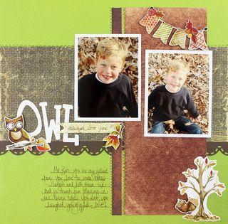 Owl Always Love You Scrapbook Layout from Creative Memories
