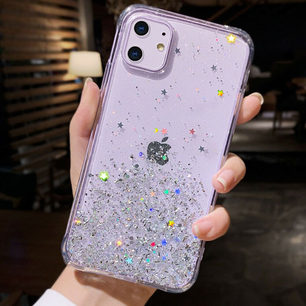 For iphone 11 11 pro max case clear bling shiny girly cute