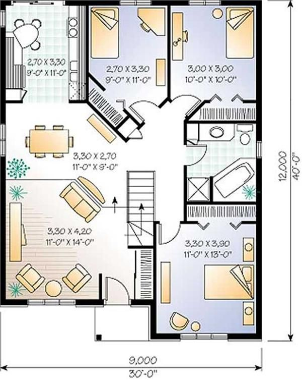 Small Bungalow Contemporary European House Plans Home Design DD