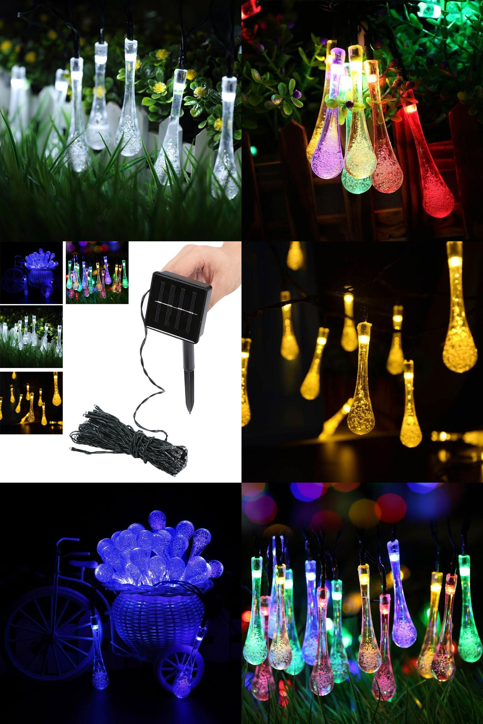 Fairy light wedding decoration ideas  Visit to Buy New  LED Solar Powered Water Drop String Lights LED