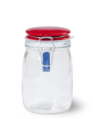 Joules Glass Storage Jar Red Make Space On The Shelves For These
