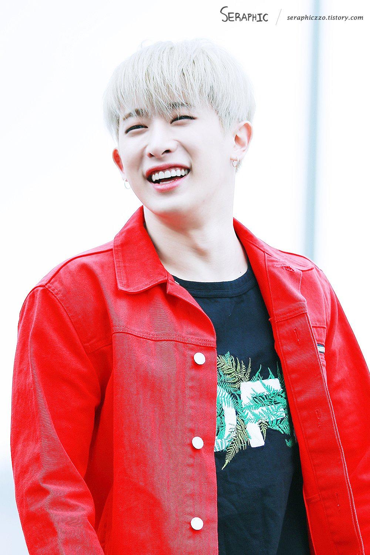 원호 (wonho) Leather jacket, Red leather jacket, Fashion