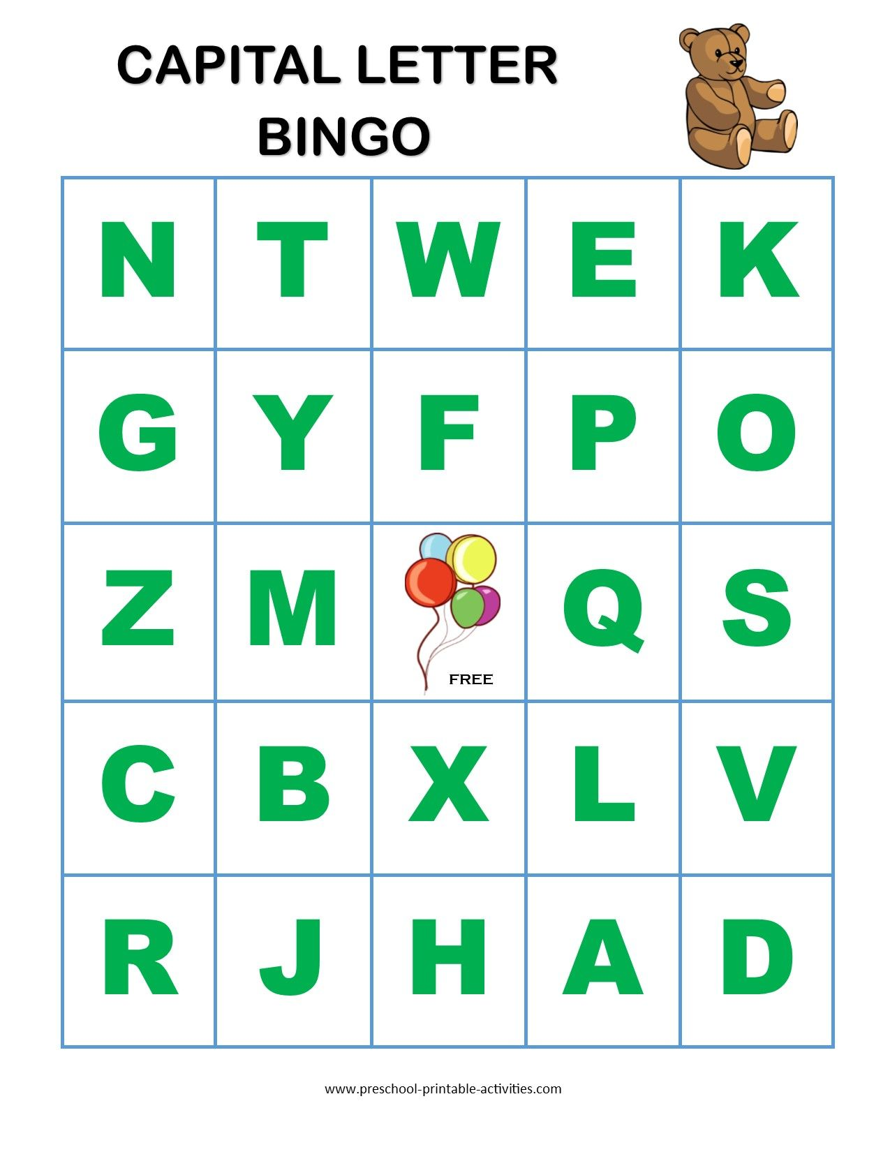 Letter Recognition Bingo Games | Kids learning | Bingo games