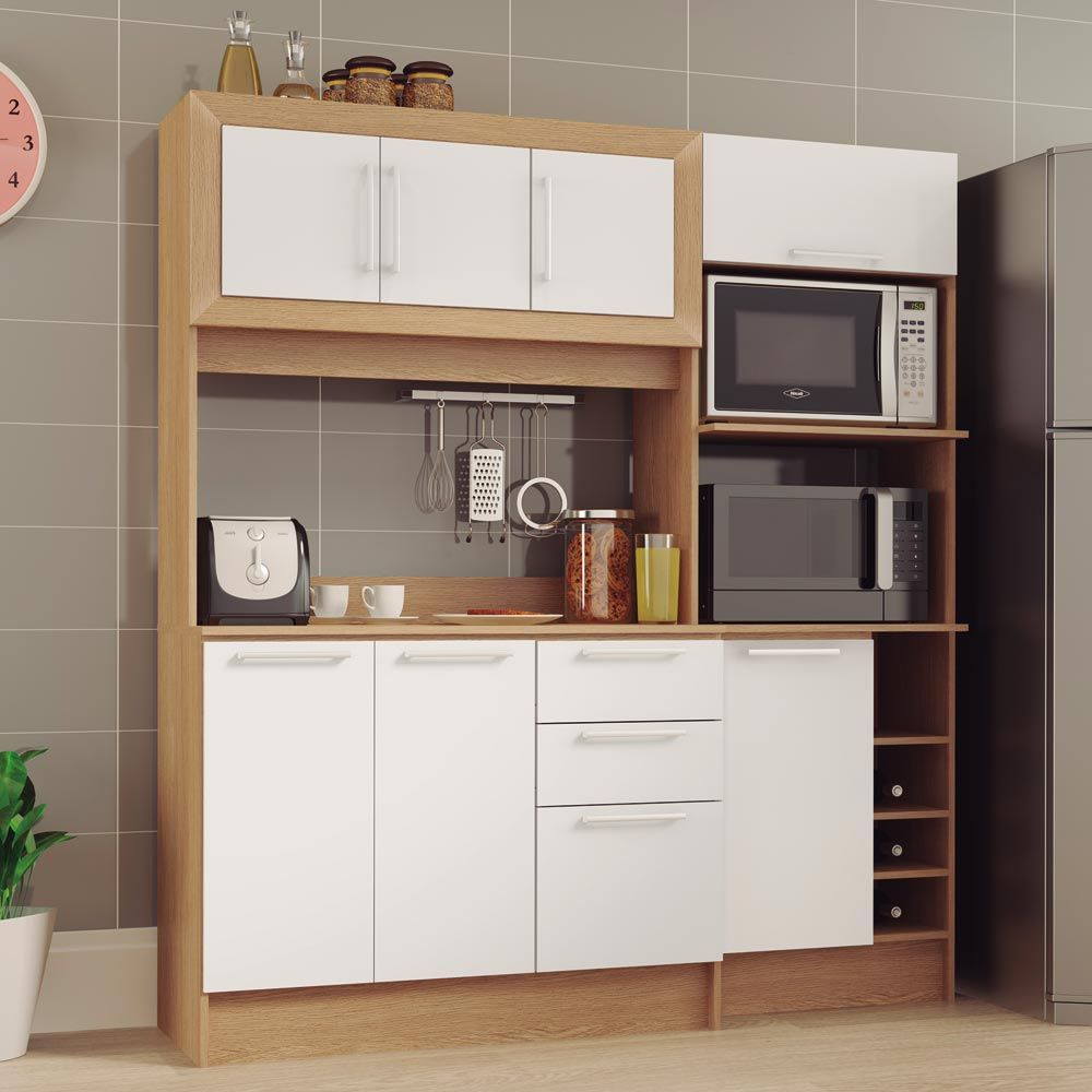 Gostou Desta Cozinha Compacta Aspen Cd 355 Carvalho Branco Dit Lia