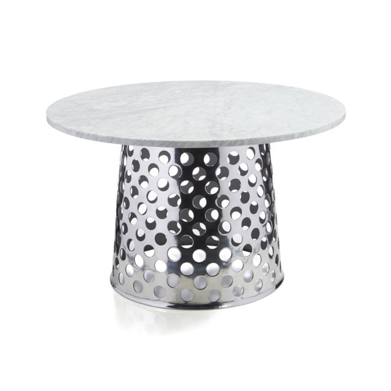 Como 48 Round Marble Top Dining Table Crate And Barrel In