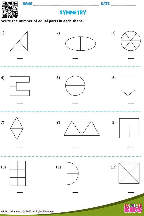 Symmetry Symmetry Worksheets 1st Grade Math Worksheets Math Word Problems