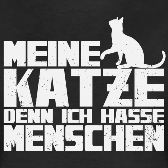 Meine Katze - denn ich hasse Menschen | Frauen Premium T ...