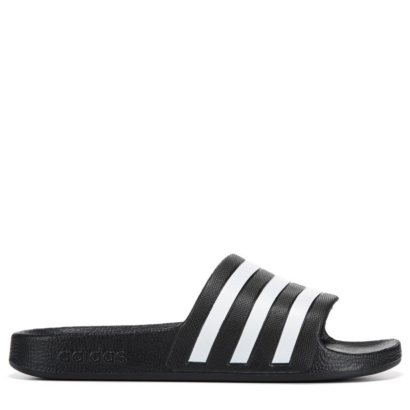 buy online f1b8b cf98c Adidas Womens Adilette Aqua Slide Sandals (Core BlackWhite)