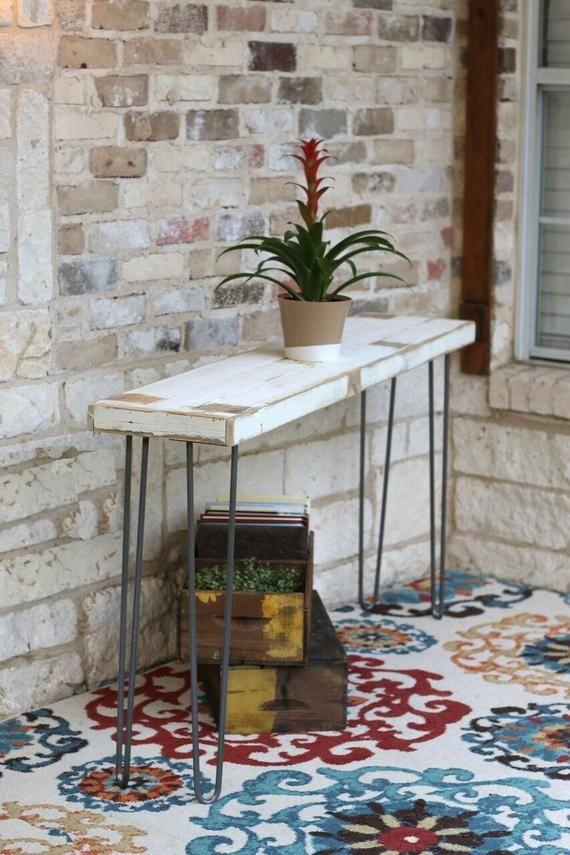Industrial 60 Inch Console Farmhouse Sofa Table Console Table