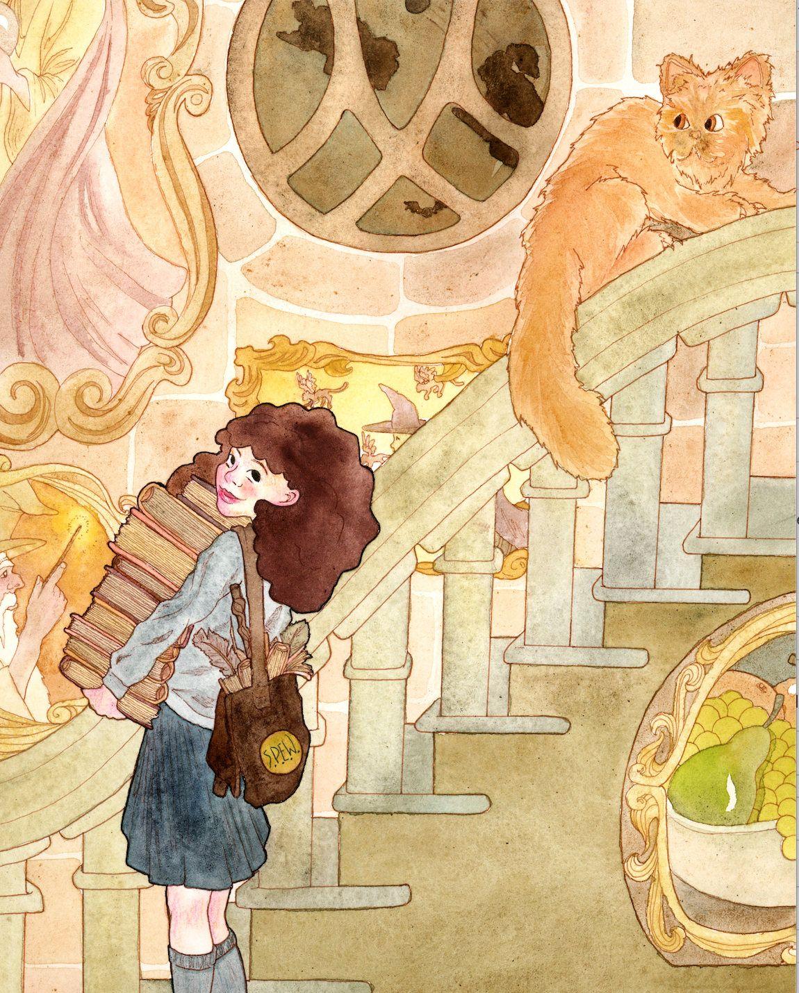 Hermione Watercolor Art Print, Hermione Granger Wall Art, Potterhead ...