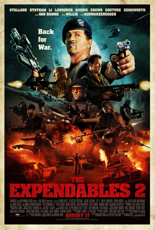The Expendables 2 Retro Poster Filmes Mercenarios 2 E Capas De