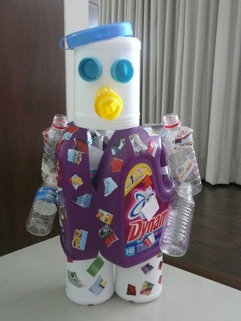 Diy Robot From Recycled Materials Diy Science Fun