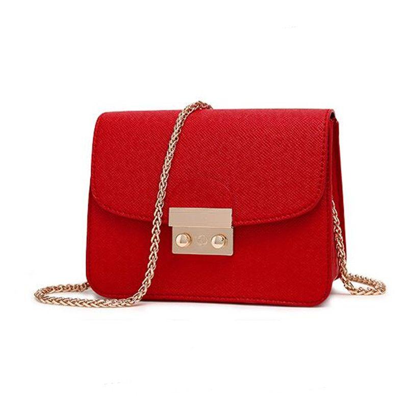 COOLWALKER designer brand bags women leather handbags Chain Solid ...